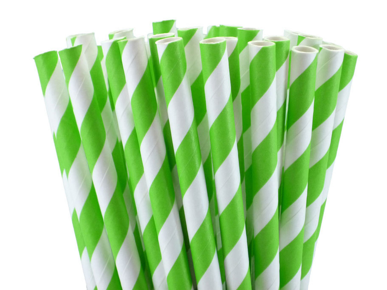 "5.5"" Cocktail Jasmine Green Paper Straws"