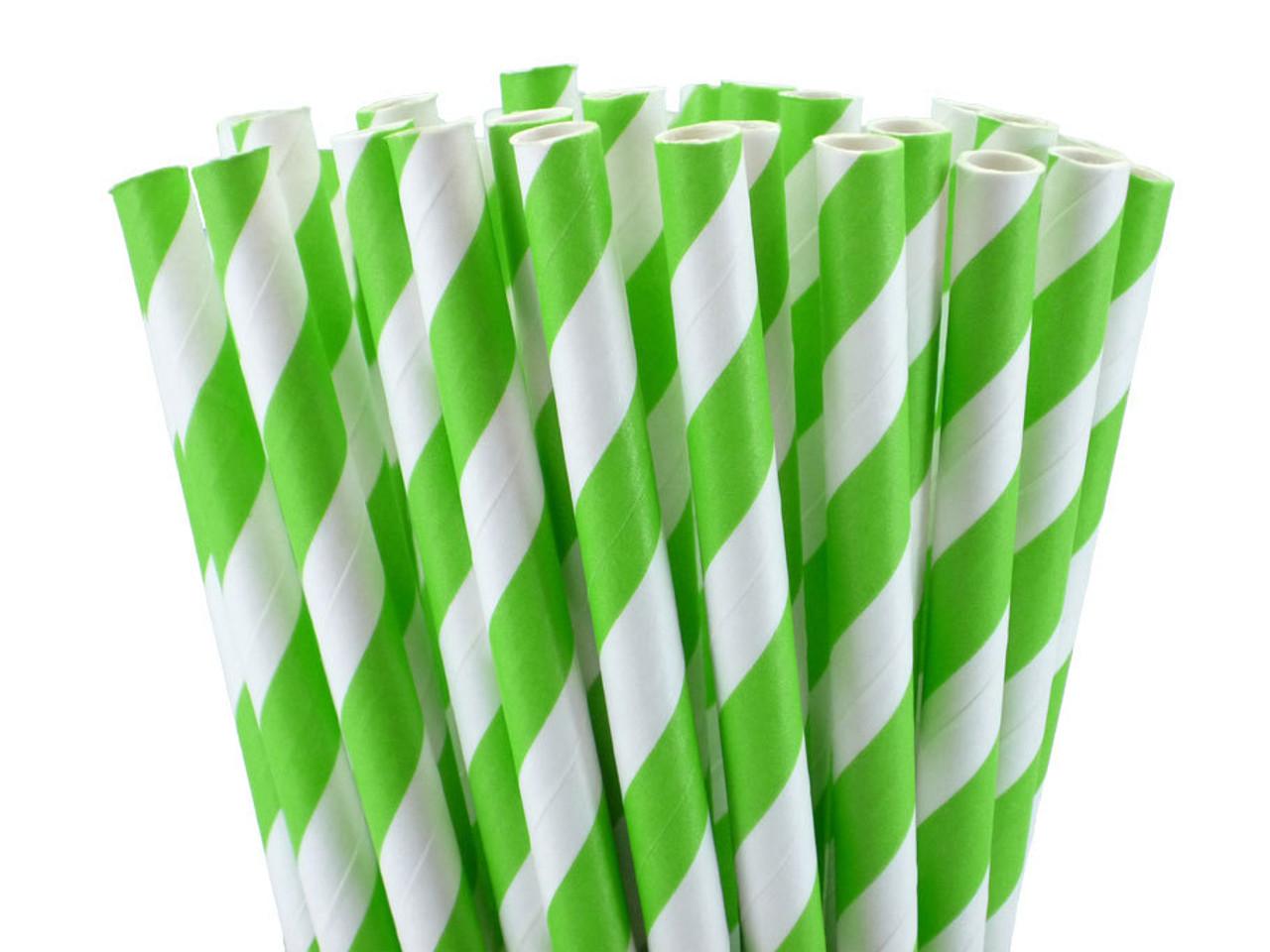 "5.5"" Cocktail Jasmine Green Paper Straws"