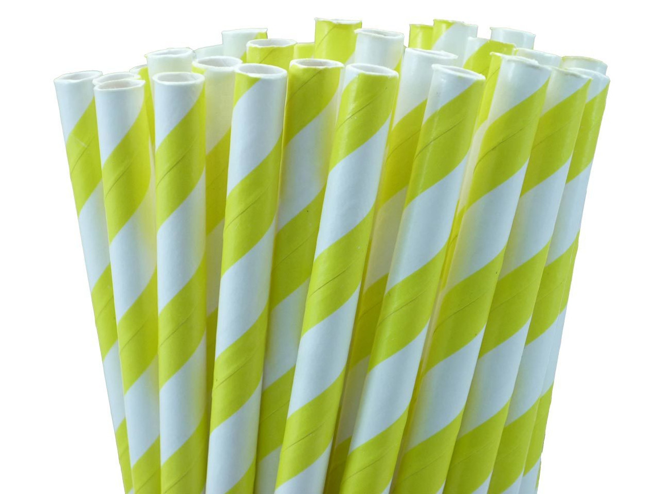 "5.5"" Cocktail Yellow Paper Straws"