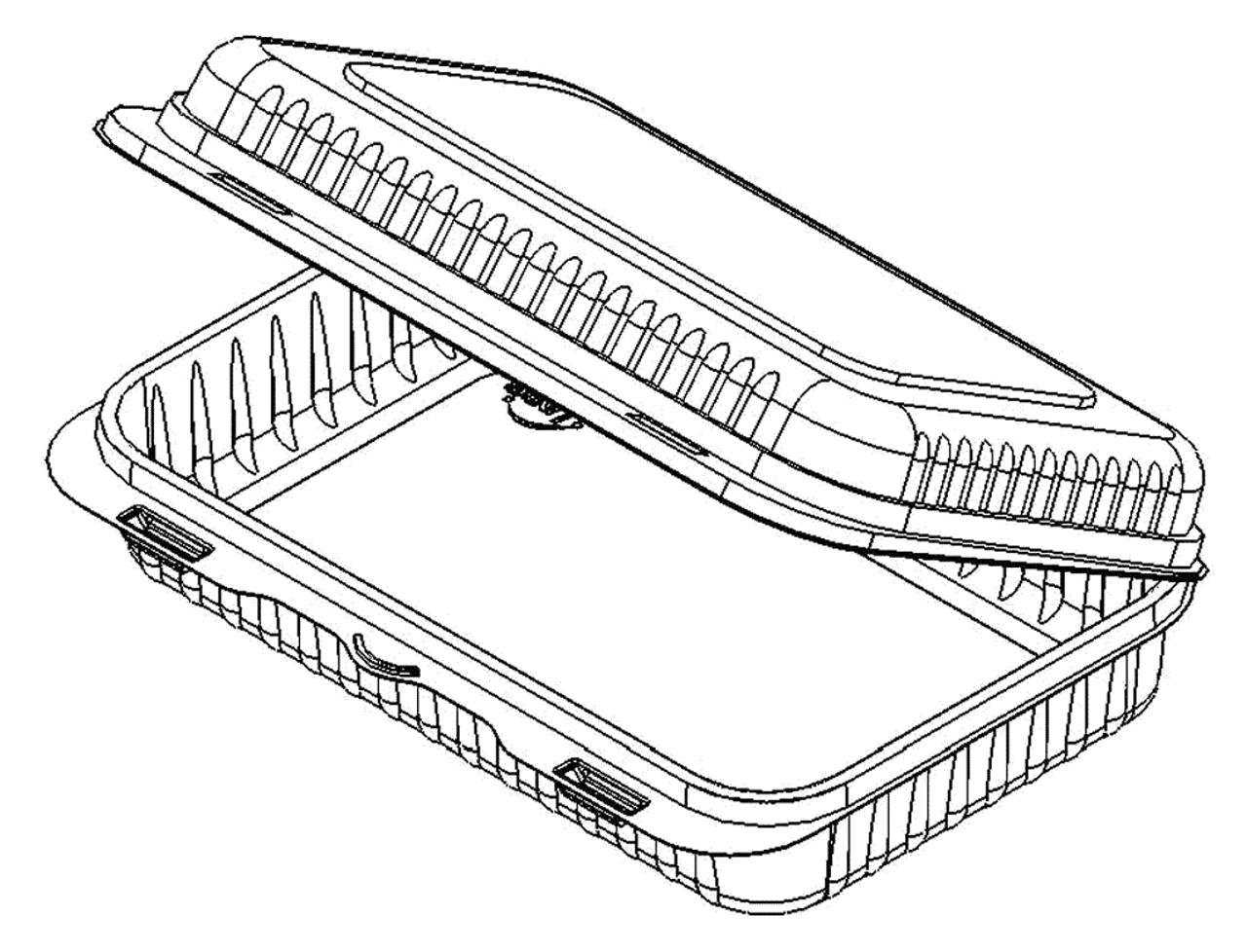 Hinged Rectangular Multi-Purpose Container