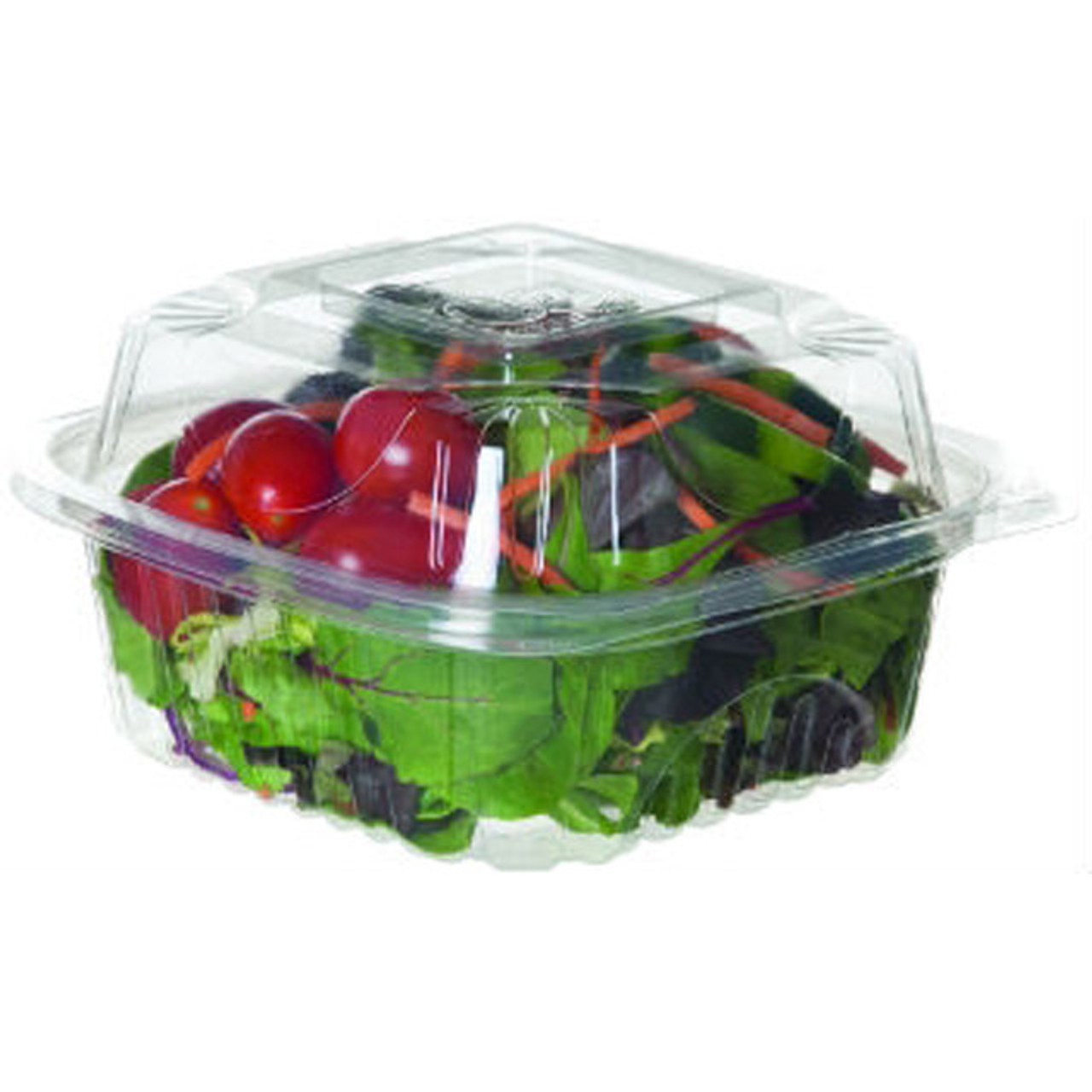 """Hinged Clear Clamshell - 6"""" x 6"""" x 3"""" - Case of 200"""