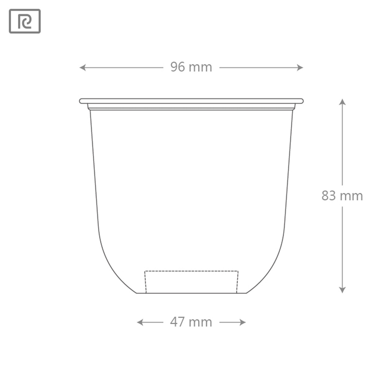 Compostable Tumbler Cup(96mm) - 12oz - Case of 1000