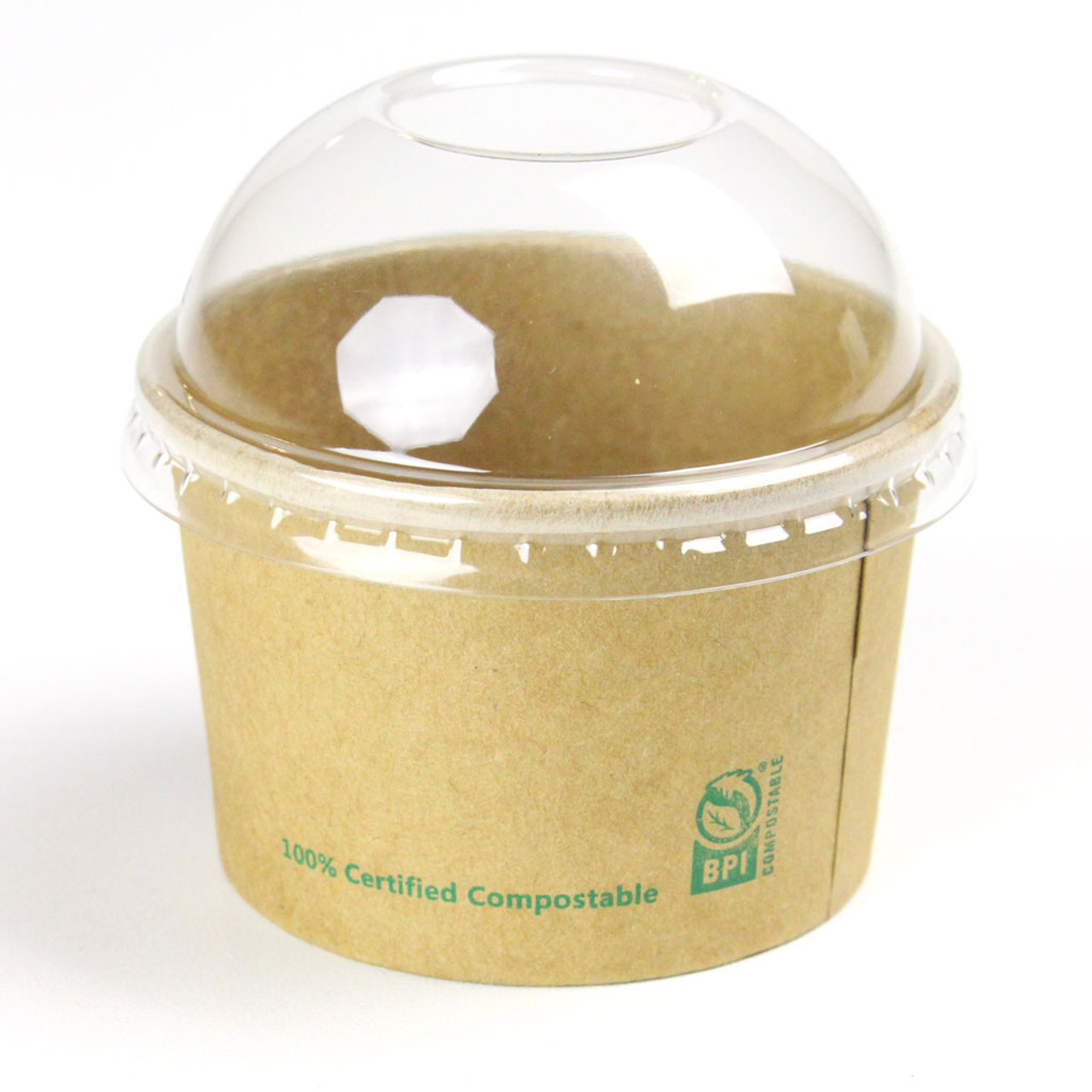 Plastic Dome Lid for Kraft Paper Bowl - 5oz