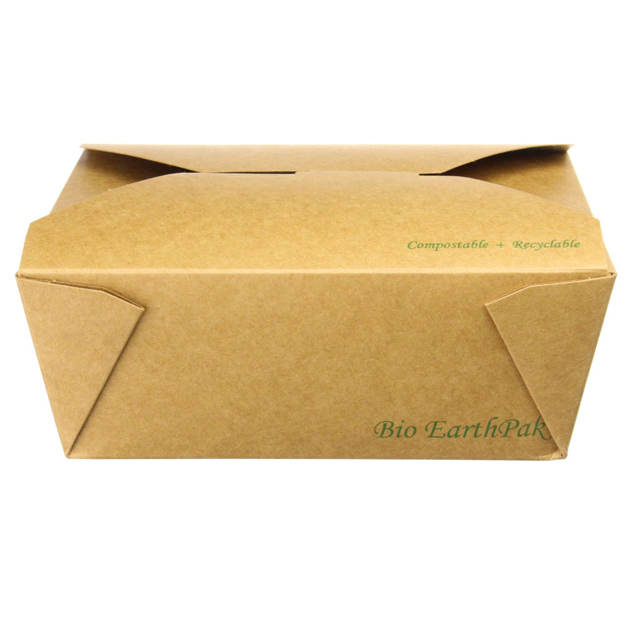 #8 Uncoated Kraft Paper Takeout Container