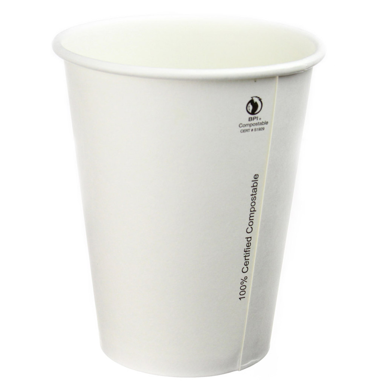 16oz Compostable Plain White Hot Cups