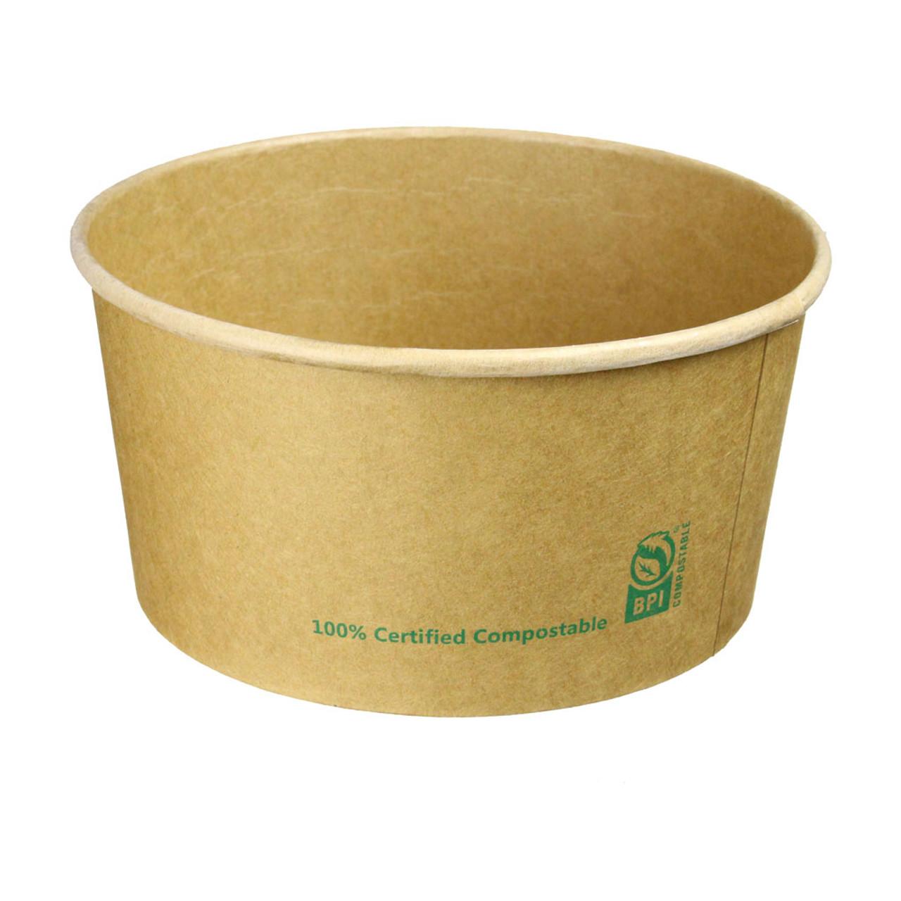 32oz Compostable Paper Salad Bowl