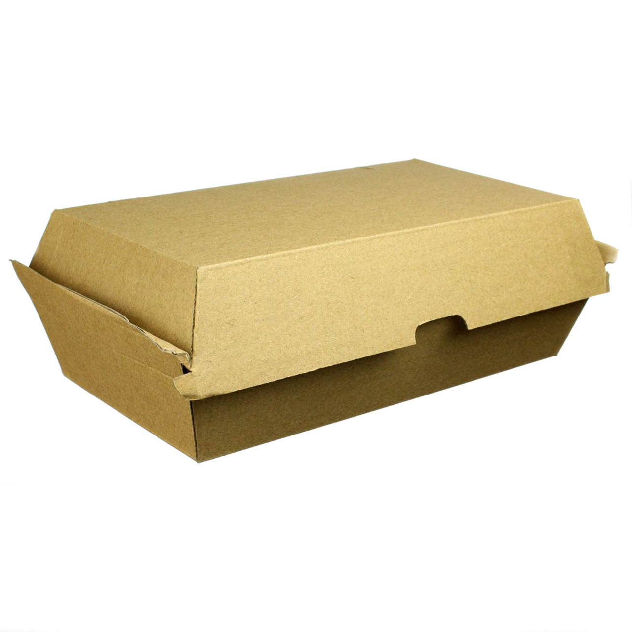 "Kraft Corrugated Clamshell - 8"" x 4.25"" - Case of 200"