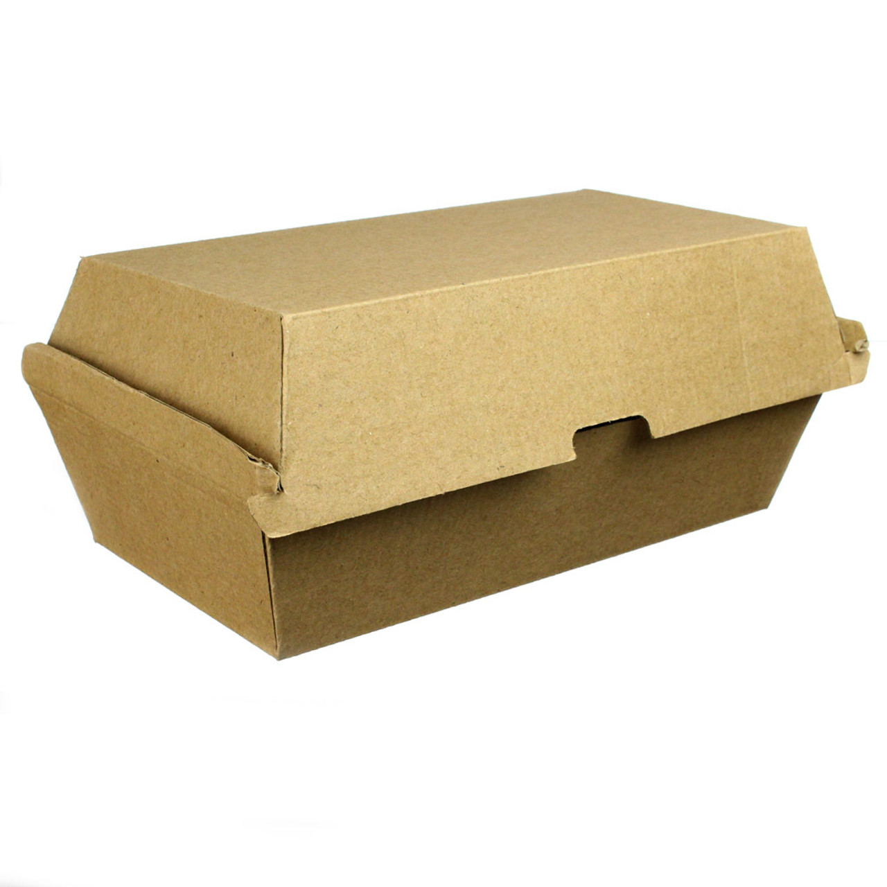 "Kraft Corrugated Clamshell - 7"" x 3.5"""