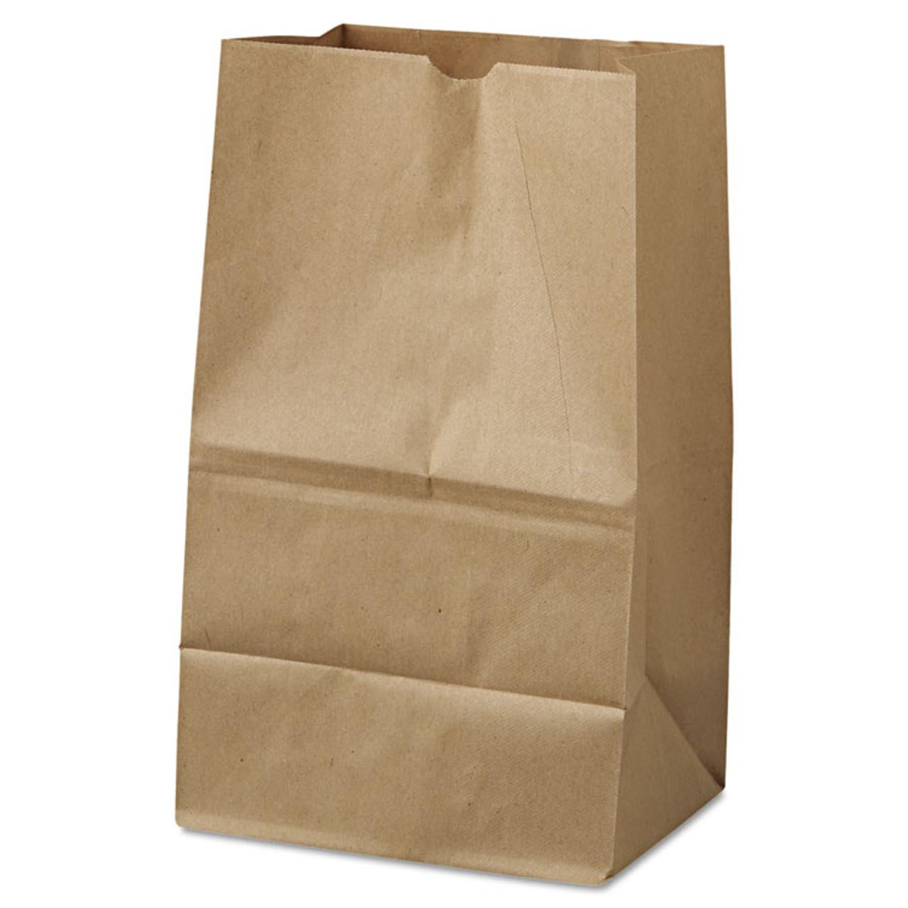 "Kraft Paper Bags #20 - 8.25"" x 5.25"" x 16.125"" - Case of 500"