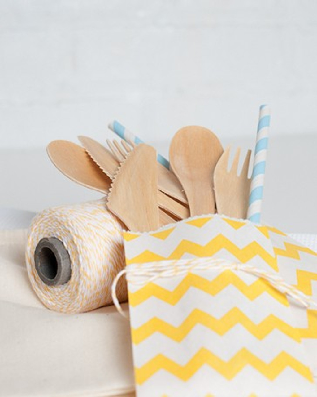 Divine Twine with Chevron Treat Bags, Aspenware Cutlery, & Greenmunch Paper Straws