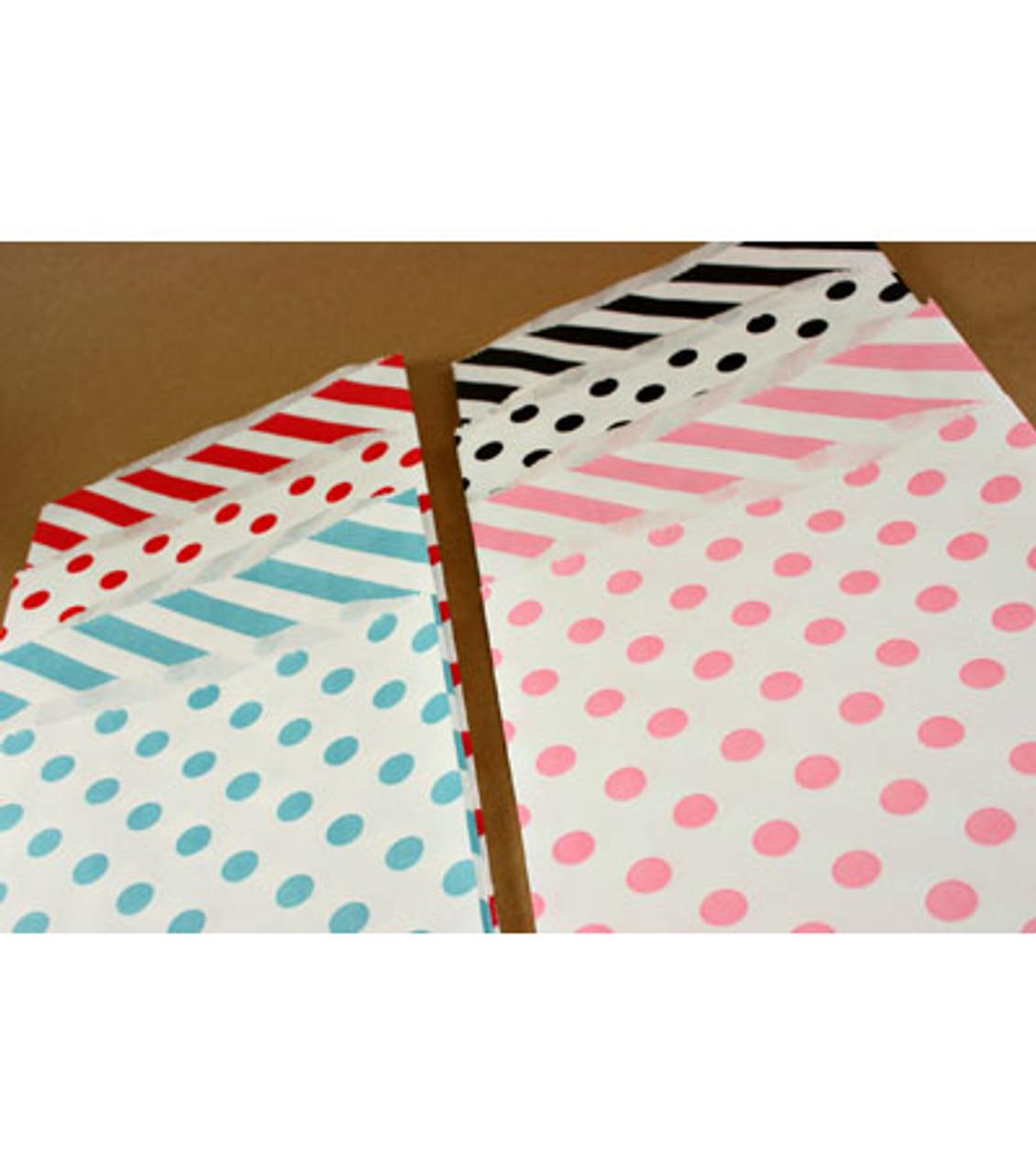 """Polka Dot Bags - 6.25"""" x 9.25"""""""