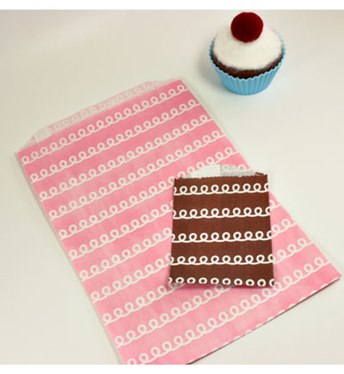 "Pink Frosting Bags - 6.25"" x 9.25"""
