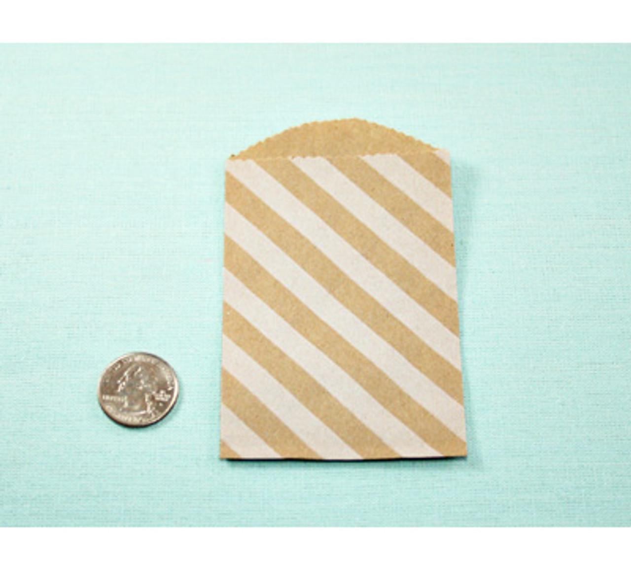 Little White Diagonal Stripe Bags