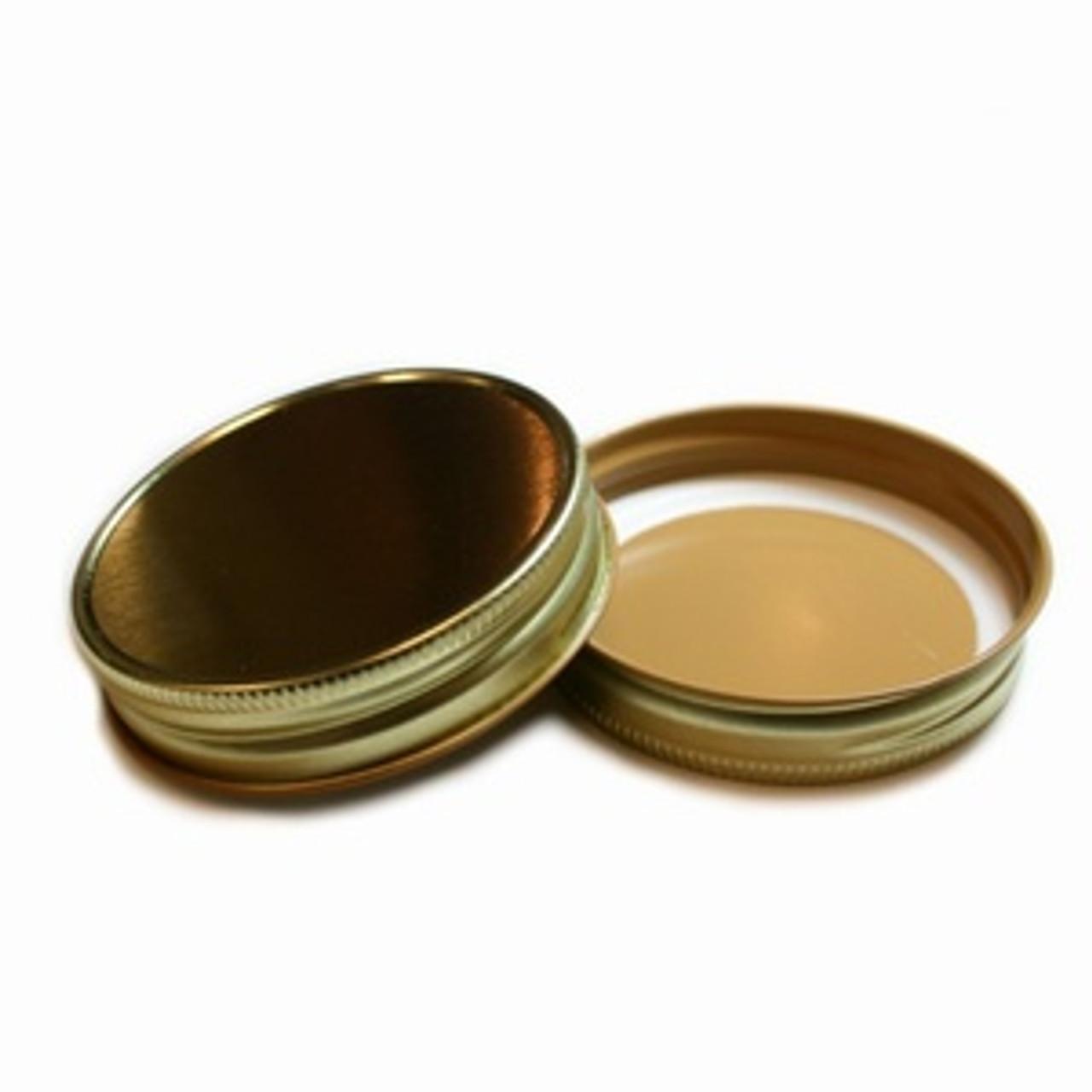 Plastisol Mason Jar Lid - Gold