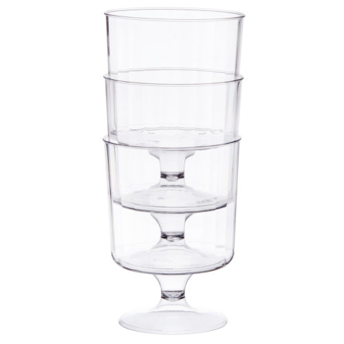 Plastic Pedestal Wine Glass - 5 oz