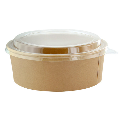 Kraft Paper Salad Bowl (without lid) - 44 oz