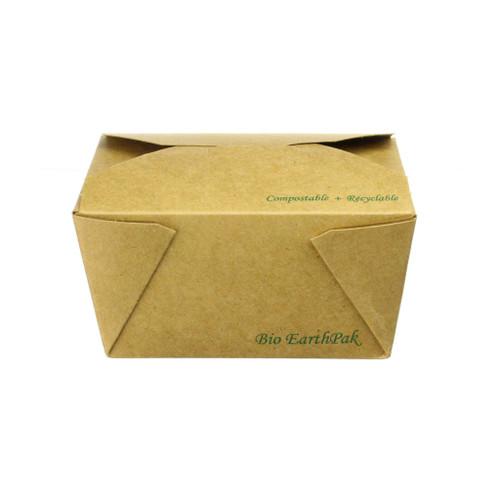 Kraft Large Compostable Kraft Clamshell Take-away Food Boxes x 250