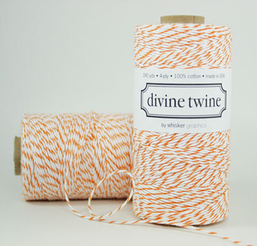Orange bakers twine