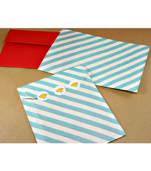 "Diagonally Striped Bags - 6.25"" x 9.25"""