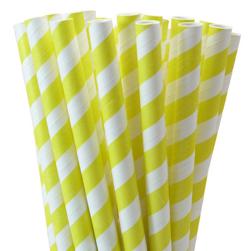 "7.75"" Printed Milkshake Paper Straws - Bag of 200"