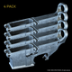 AR-15 80% Lower, Forged, 4 Pack - Raw