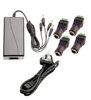 AC/DC 12V DC 5A Desktop Power Supply With 4 fly leads + 4 Female Quick Power Connectors