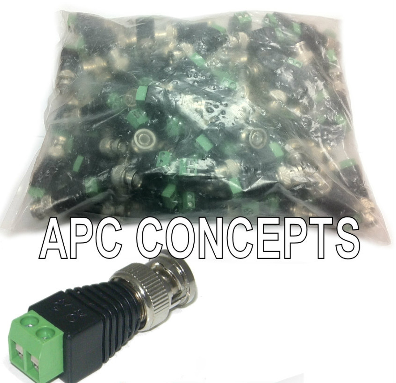 100 Pack Quick RG59 BNC Connectors - Terminal Connection