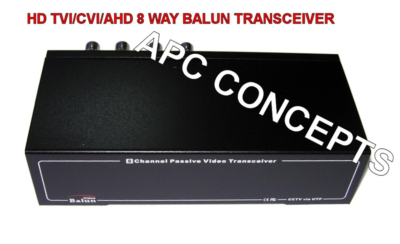 8 Channel HD Balun Video Transceiver HD TVI/CVI/AHD