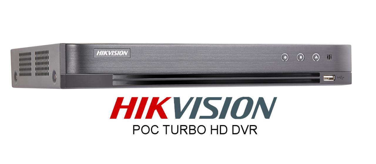 Hikvision DS-7204HUHI-K1-P Turbo 4 4ch POC Power Over Coaxial DVR HD-TVI HDMI VGA Network USB Mouse