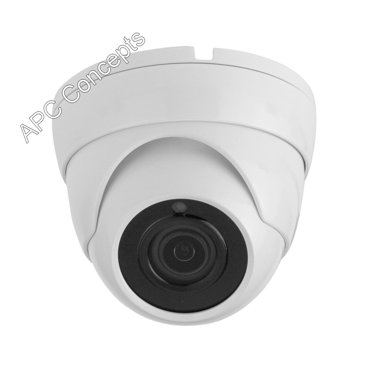 990 WFD8M 8mp HD-TVI/CVI/AHD/CVBS  3.6mm Lens White 8MP Dome Camera
