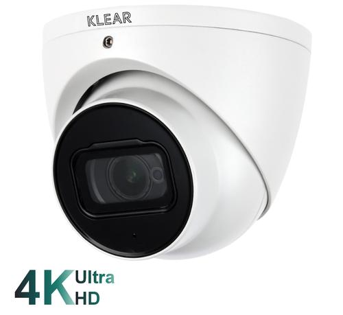 Klear 8mp Ultra HD K-805 E A ST Eyeball Turret Dome Camera 2.8mm Fixed Wide Angle Lens
