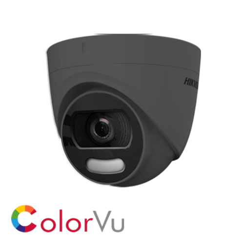Hikvision DS-2CE72HFT-F/Grey 2.8mm fixed lens 5MP ColorVu Turret Camera Grey