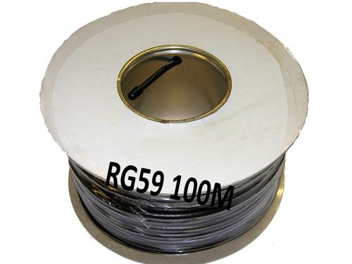 250m RG59 C/U Black Coaxial Cable, CCTV Premium Cable