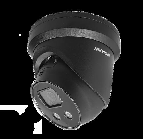 Hikvision DS-2CD2386G2-ISU/SL Black 2.8mm AcuSense 8MP IP Turret Dome Camera 2.8mm Lens Built In Mic/Speaker
