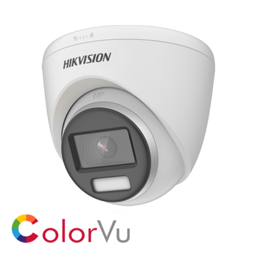 Hikvision DS-2CE72UF3T-E(2.8mm) White POC 2.8mm fixed lens 8MP ColorVu Turret Camera White