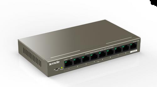 Tenda TEG1109P-8-102W Switch 9-Port Gigabit Desktop Switch with 8-Port PoE