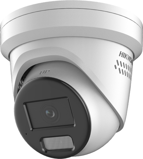 Hikvision DS-2CD2347G2-LSU/SL 4mm Lens 4MP  Hikvision Colorvu AcuSense 4MP fixed lens Turret Camera with audio & Audible Warning + Strobe Light