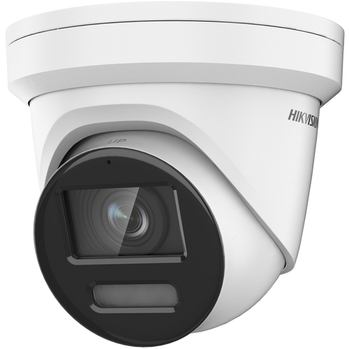 Hikvision DS-2CD2387G2-LU 4mm Lens White 8MP Colorvu AcuSense 4mm fixed lens Colour Turret Camera with audio