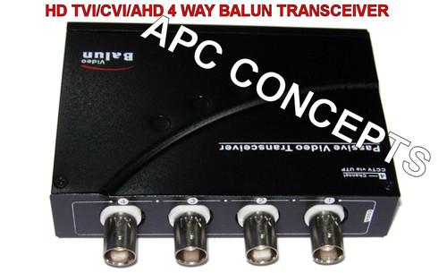 4 Channel HD Balun Video Transceiver HD TVI/CVI/AHD