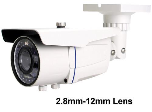 Avtech DG205 Varifocal 2.8mm-12mm Lens Bullet CCTV Camera Limited IR Range 1080p HD-TVI Ideal For Well Lit Areas