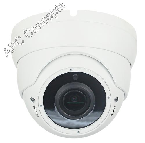 980 VFDW Hybrid Series HD-TVI/CVI/AHD/CVBS 2.8mm-12mm Lens Anti Vandal Dome Camera White HD Multiple Resolution Camera 5MP 2MP & CVBS