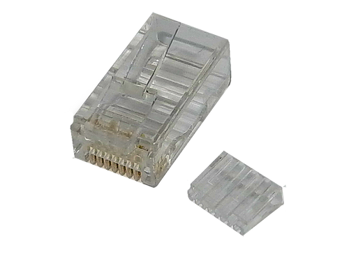 RJ45 Cat6 Connector Plug 2 Part Pack of 100