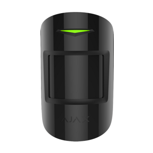 Ajax Combi Protect Black Wireless Combined Motion And Glass Break Detector