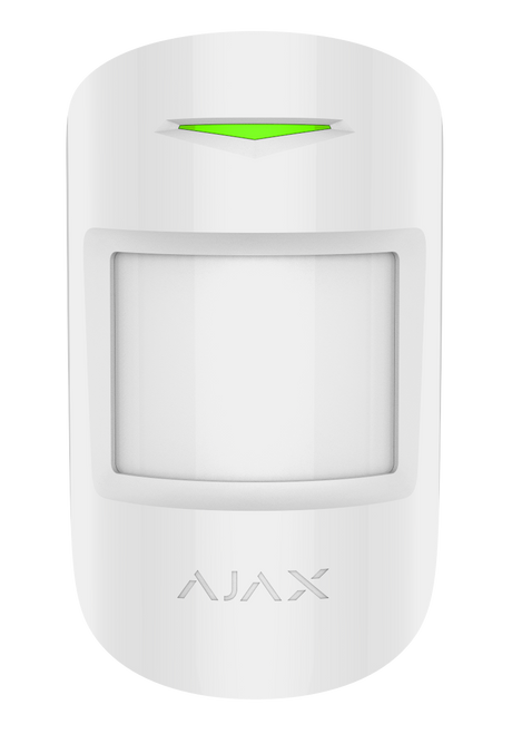 Ajax Motion Protect Plus - White Wireless Motion Detector With Microwave Sensor