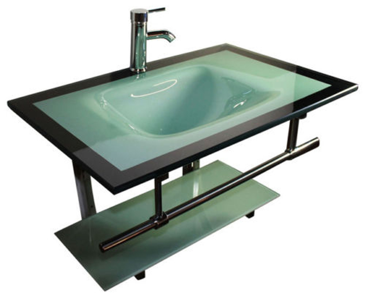 31 Contemporary Bathroom Vanity Aqua Green Laguna Glass Vessel Lv 005