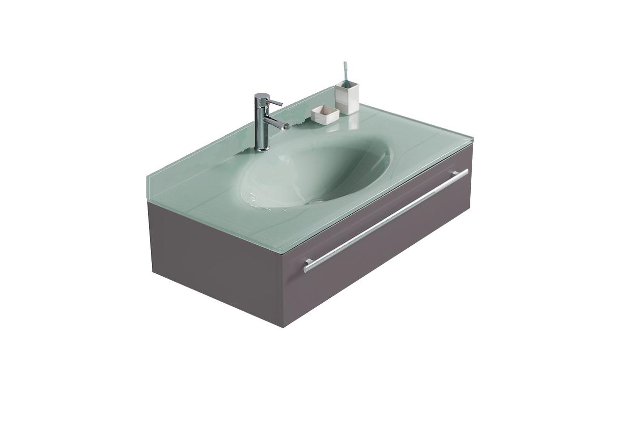 Lv 1031ks 36 Wide Modern Gray Bathroom Vanity With Glass Sink Top Back Splash Lorixon Product
