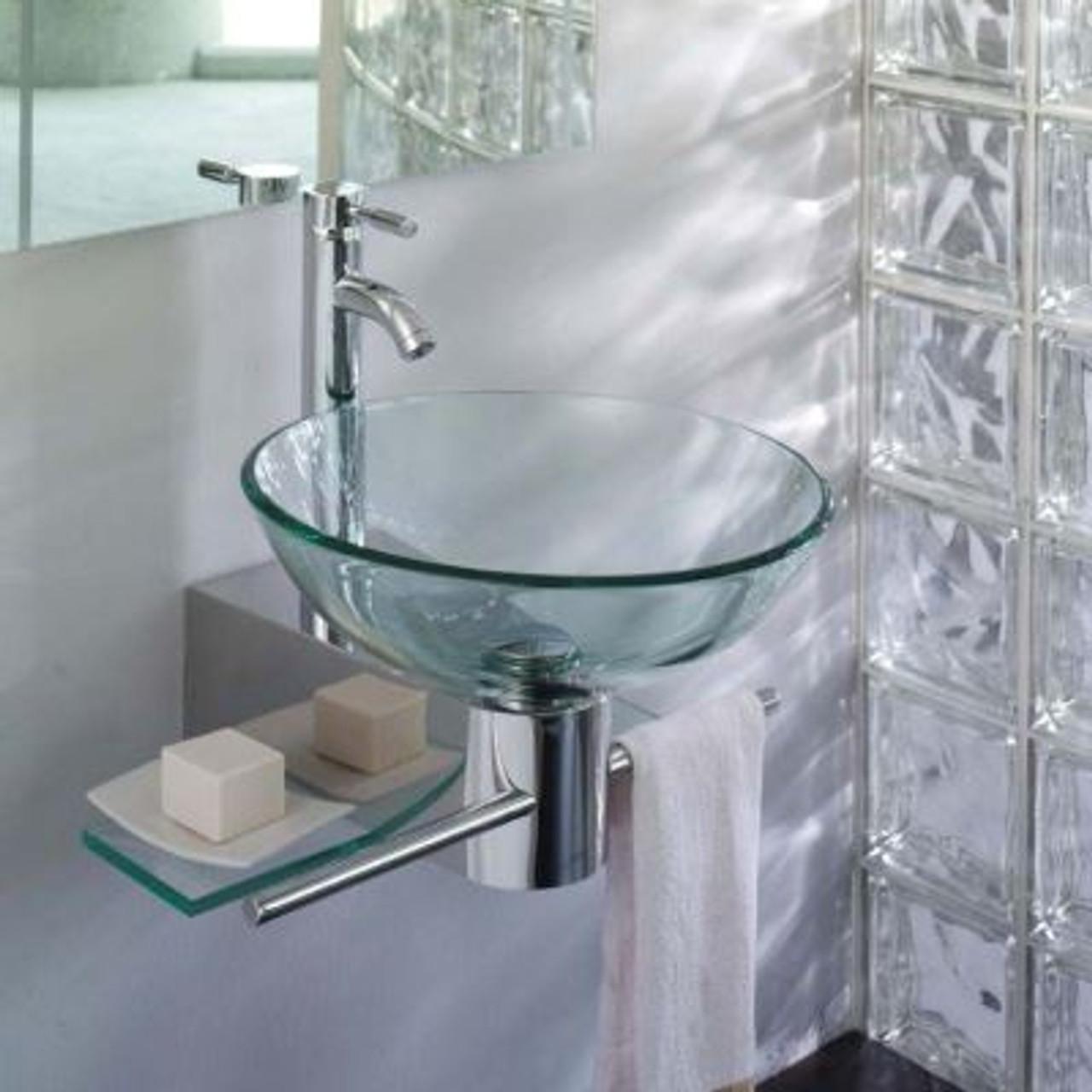 Lv 002r Lorixon Small Bathroom Vanity Glass Bowl Vessel Sink Combo Set Product