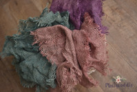 Hand Dyed Frayed Organic Burlap Texture Layer
