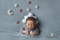 To the Moon and Back - Felt Moon and Stars