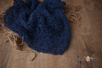 Fluffy Knitted Layer - Blue
